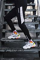 Спортивные штаны Пушка Огонь Joke черно-белые (только размер XS)