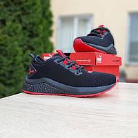 Кроссовки женские в стиле Puma  Hybrid черные с красным