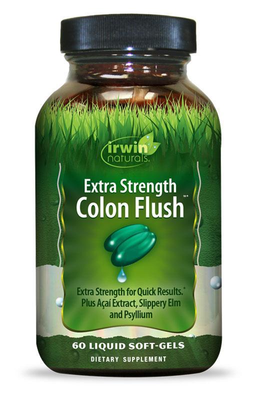 """Irwin Naturals, """"Усиленное промывание кишечника"""", сильнодействующее слабительное, 60 капсул"""