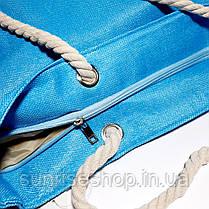 Пляжная сумка текстильная летняя, фото 3