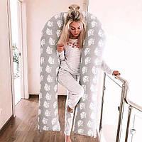 U-образная подушка для беременных без наволочки  XXL - 150 см Премиум