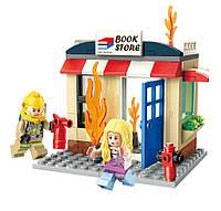 Конструктор Книжный магазин в огне, Qman, 88 деталей (2804)
