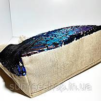 Пляжна текстильна літня сумка, фото 2