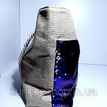 Пляжна текстильна літня сумка, фото 3