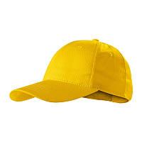 Кепка с козырьком ADLER Czech, Sunshine Piccolio, бейсболка мужская или женская, шестиклинка, желтая