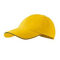 Кепка с козырьком ADLER Czech, Sandwich, бейсболка мужская или женская, шестиклинка, желтая