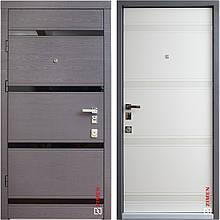 Дверь входная металлическая ZIMEN Studio, Standart, Mottura, Дуб гриф / Пломбир, 950x2050, правая