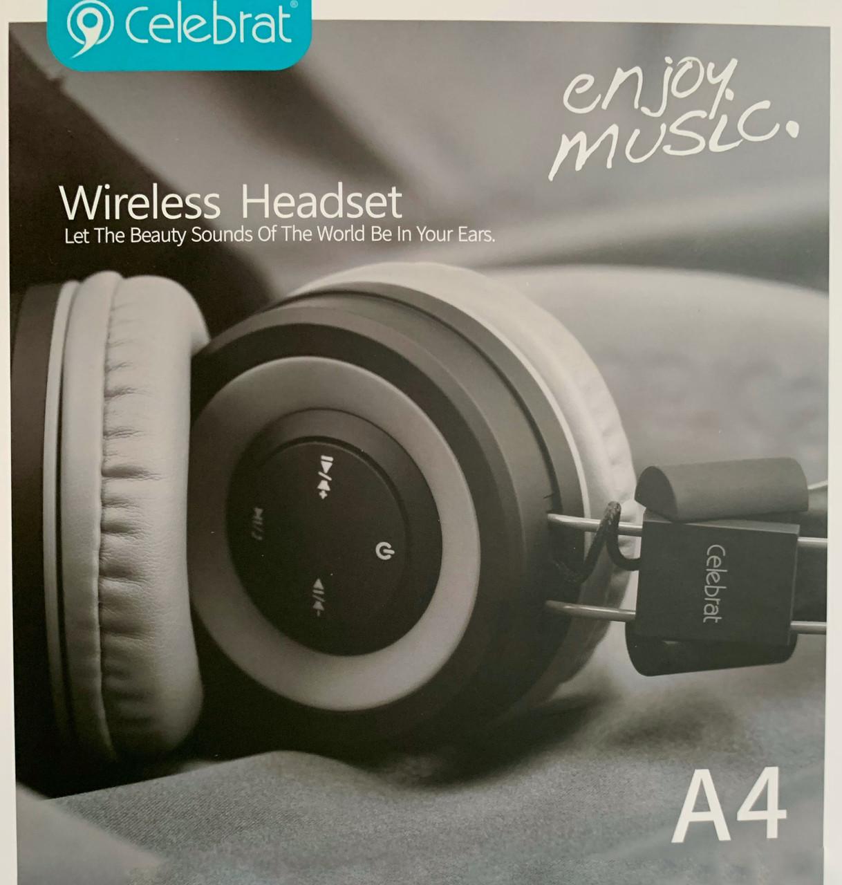 Бездротові навушники з блютузом CELEBRAT A4