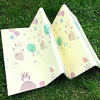 Детский складной тёплый коврик для ползания Мишки