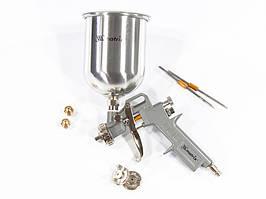 Краскораспылитель пневматический с верхним бачком V 1.0 л, сопло D 1.2, 1.5 и 1.8 мм MTX 573159