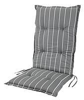 Подушка для шезлонга/лежака серая в полоску,  60х190х5h см