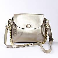 """Женская сумка, клатч через плечо из натуральной кожи """"Пуговка 3 Silver"""", фото 1"""