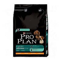 Pro Plan puppy original для щенков с курицей 3 кг.