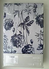 Простынь на резинке 180х200 Хлопок Трикотаж КОНТУРНІ КВІТИ 125 г/м2, фото 2