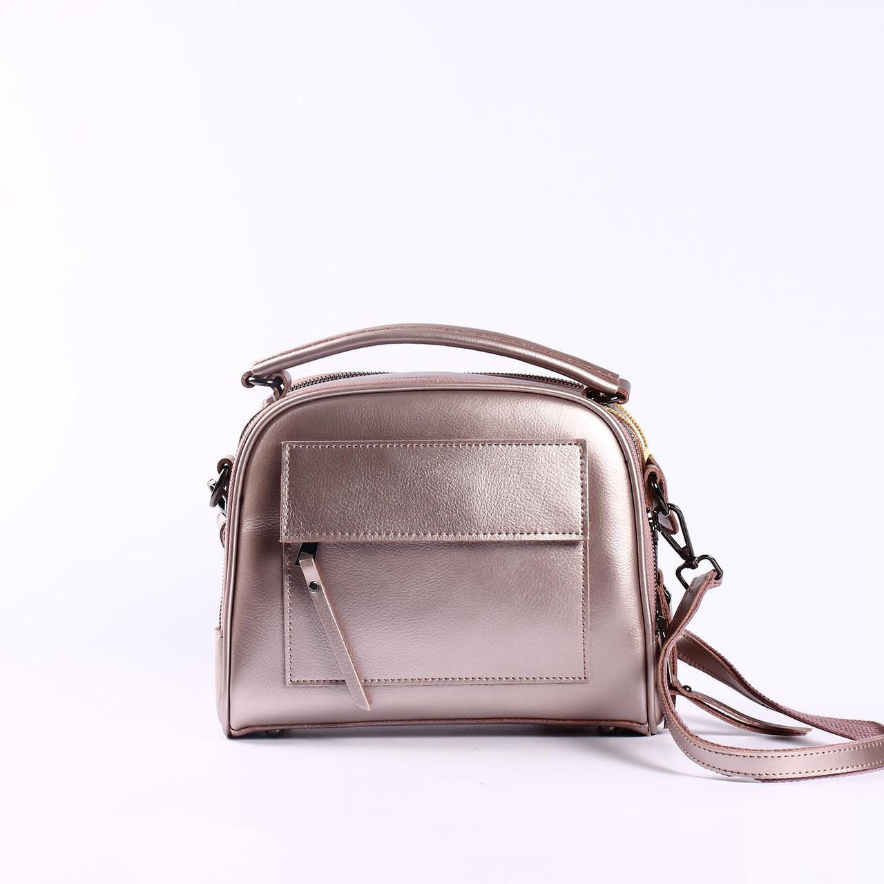 "Женская кожаная сумка  ""Элизавет Bright Pink"""