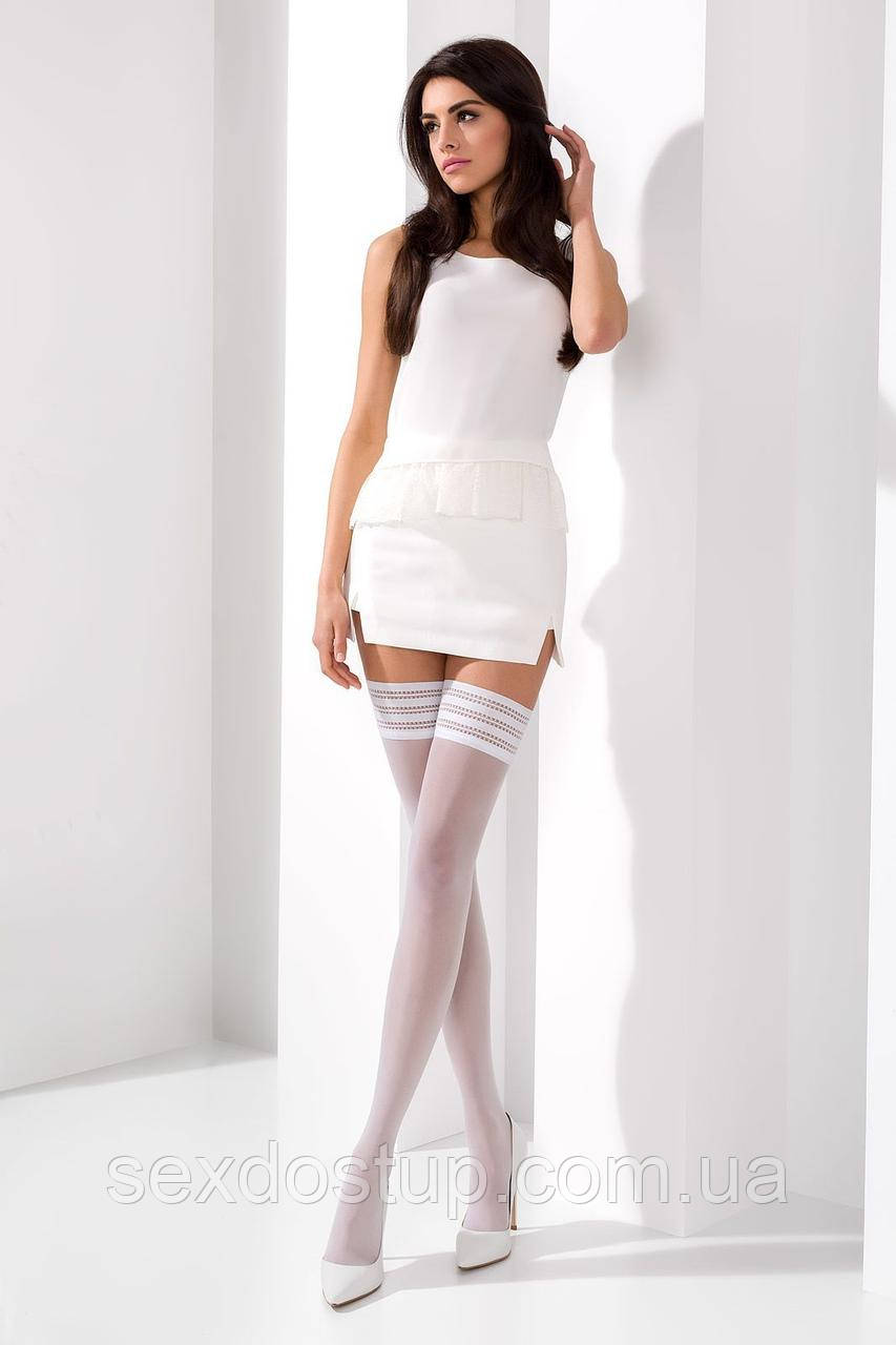 Чулки ST005 3/4 bianco - Passion