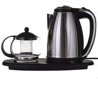 Электрочайник 1,8л + чайник заварник 500мл. на подставке, фото 1