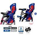 Велокресло синее TILLY T-831 с установкой к подседельной трубе или на багажник с весом ребенка до 22 кг, фото 3
