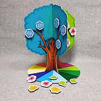 Настольное Обучающее пособие Дерево Времена года с магнитами