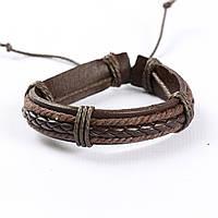 """Мужской кожаный браслет """"Вэст Dark Brown"""", фото 1"""