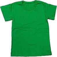 Футболка детская однотонная зелёная , 116