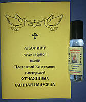 Акафист и масло чудотворной иконе Пресвятой Богородице именуемой Отчаянных Единая Надежда