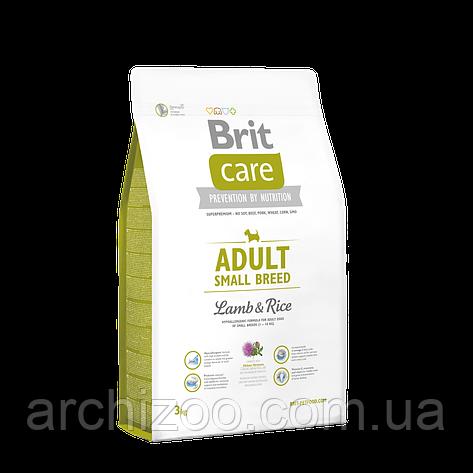 Brit Care Adult Small Breed Lamb & Rice корм для собак мелких пород, 3 кг, фото 2