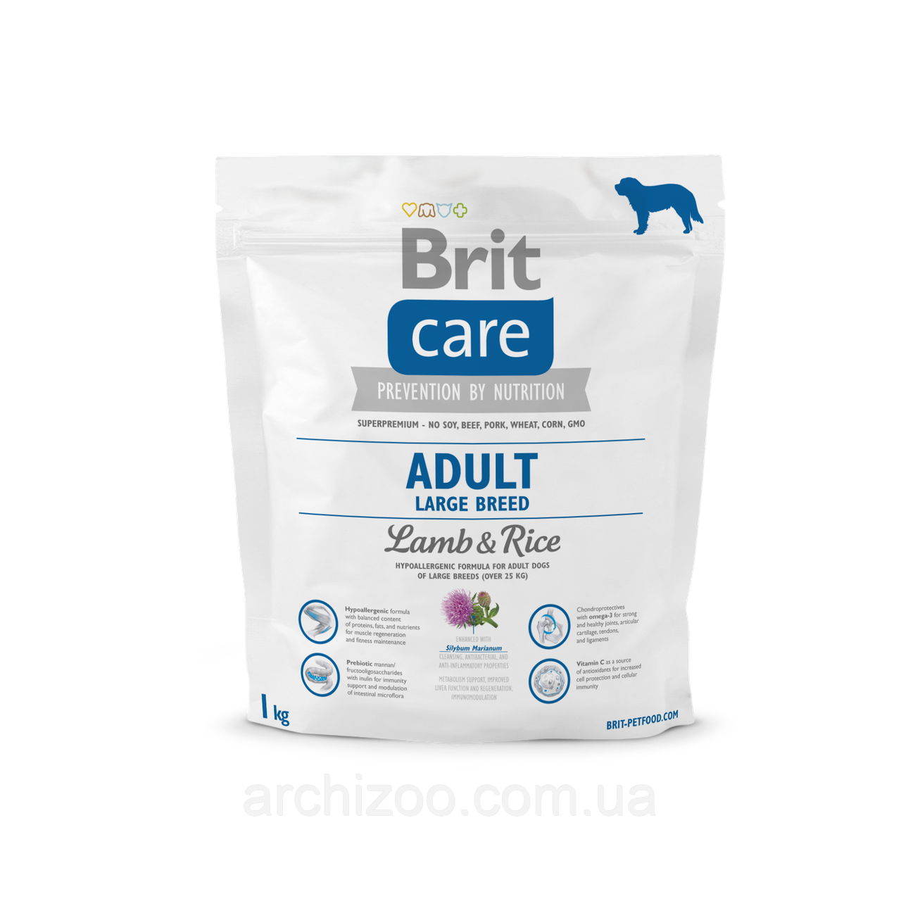 Brit Care Adult Large Breed Lamb & Rice корм для собак крупных пород, 1 кг