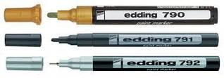 Лаковый маркер по металлу белый edding e-790 Paint