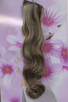 Волосся штучне термоволокно на заколках русявий з мелірування