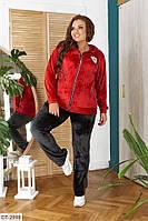 Женский спортивный костюм велюровый с 50 по 58 размер