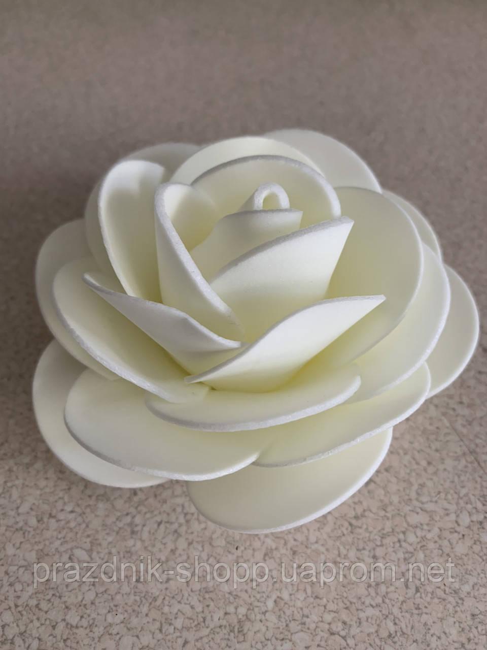 Роза белая, фоамиран.