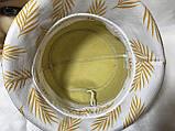 Шляпа панама льняная средние поля с бантом цвет горчица, фото 3