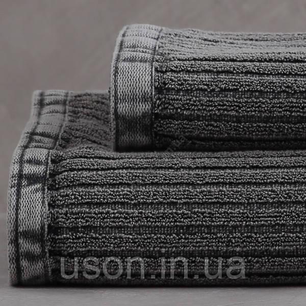 Набор махровых полотенец ( 50*85, 75*150 ) TM Pavia Турция Carl antrasit