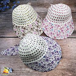 Жіноча шапочка з козирком (об'єм 56 - 58 см) (3032)