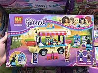 Развивающий Конструктор для девочек Bela Френдс Парк развлечений - фургон с хот-догами 249 деталей, 37*6*22