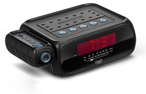 Радио, часы, будильник с проектором. Питание 220в, батарейки  Adler AD 1120