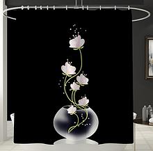 Шторка-занавеска в ванную «Лотос» 170×180 см