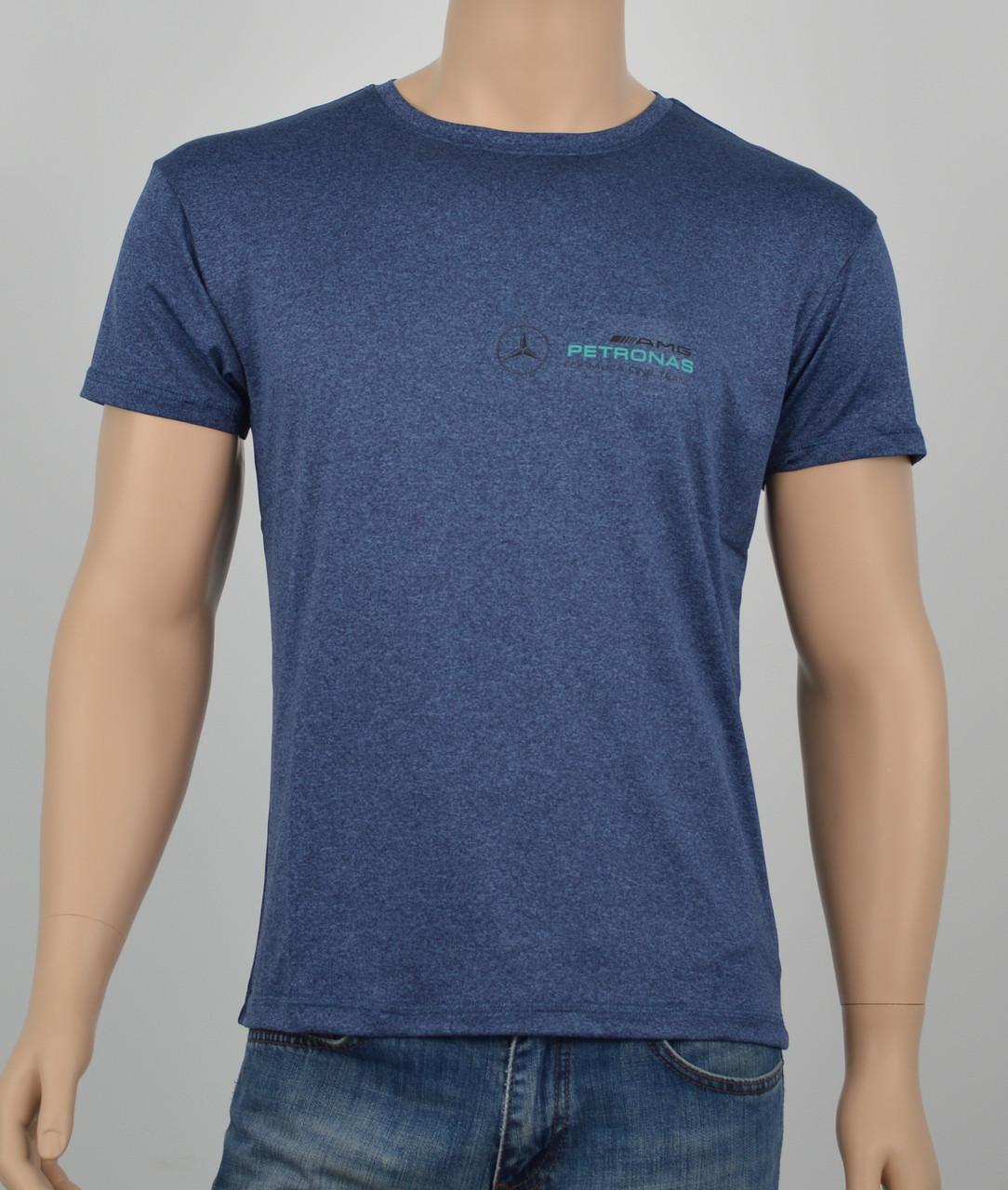 """Мужская футболка """"Вискоза"""" Mercedes синий"""