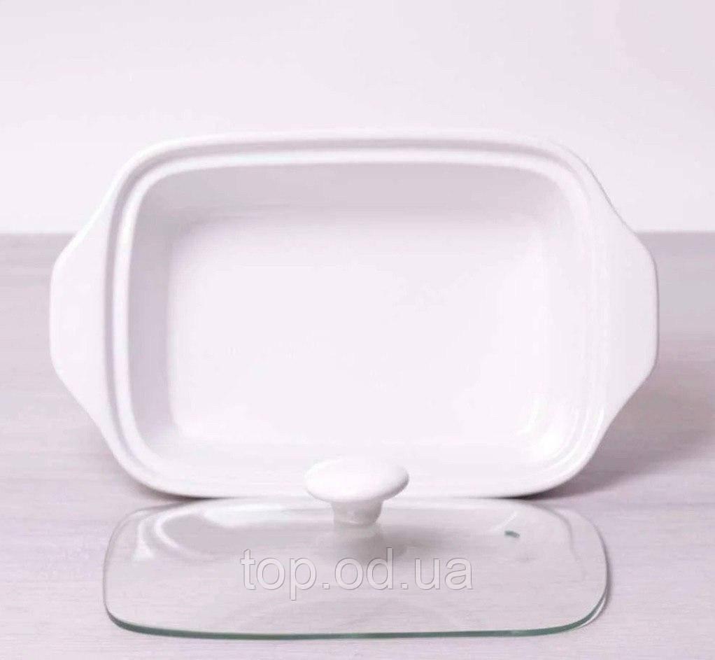 Керамический мармит 3 л со стеклянной крышкой и металлической подставкой Kamille KM 6404