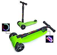 Самокат Scooter Smart Зеленый Складная ручка светящиеся колеса (SD 460304254), фото 1