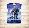 Платье-туника 3D для девушек Космонавт Взрослые и детские размеры