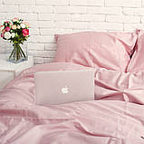 Комплект постельного белья 1.5 спальный Сатин Люкс (SE004) Евро-подушки, фото 3