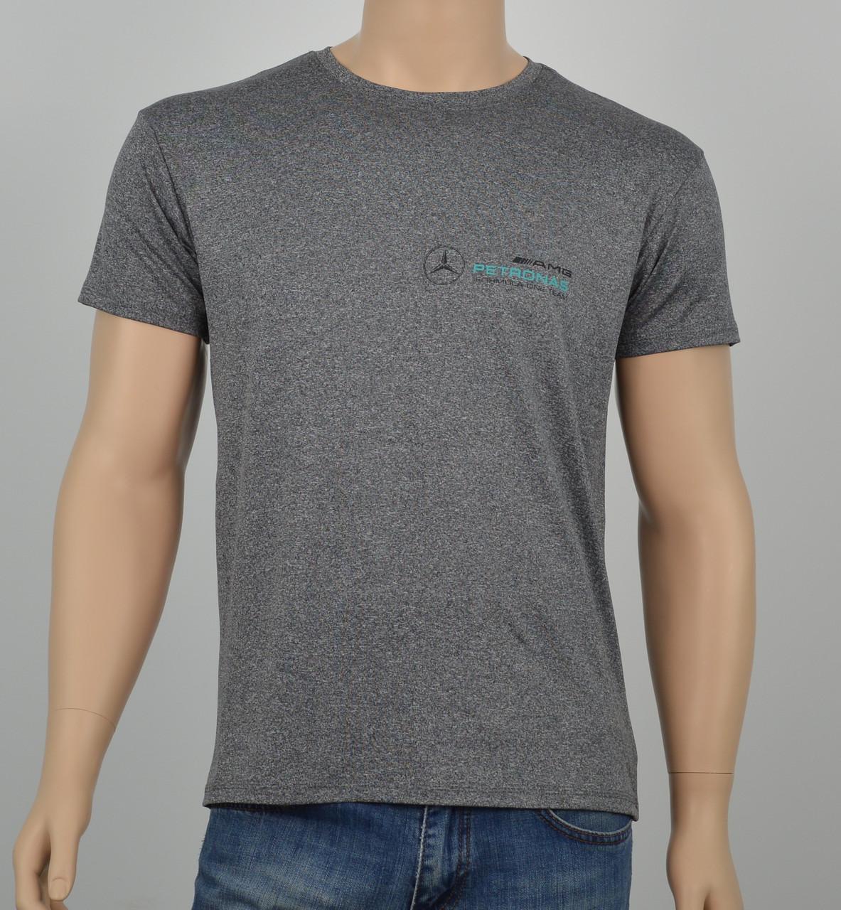 """Мужская футболка """"Вискоза"""" Mercedes серый"""