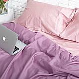 Комплект постільної білизни 1.5 спальний Сатин Люкс (SE007) Євро-подушки, фото 2