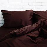 Комплект постільної білизни Євро Сатин Люкс (SE006) стандартна подушка, фото 2