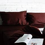 Комплект постільної білизни Євро Сатин Люкс (SE006) стандартна подушка, фото 3