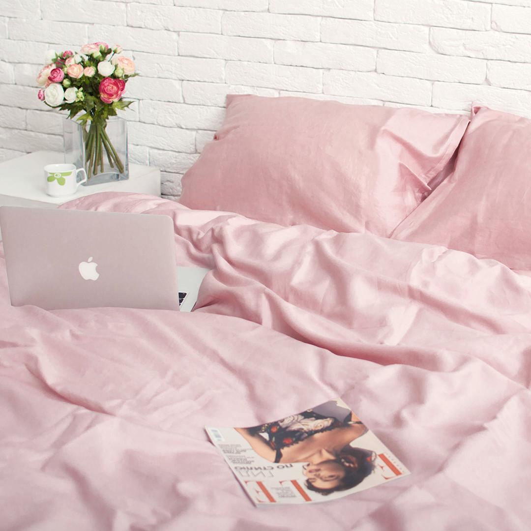 Семейный комплект постельного белья Сатин Люкс (SE004) стандартная подушка