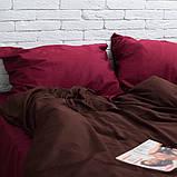 Семейный комплект постельного белья Сатин Люкс (SE008) Евро-подушки, фото 2