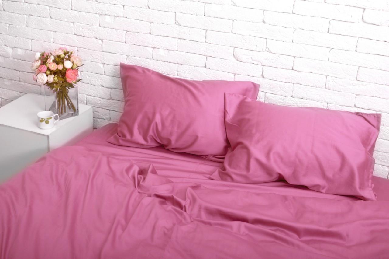 Семейный комплект постельного белья Сатин Люкс (SE011) Евро-подушки